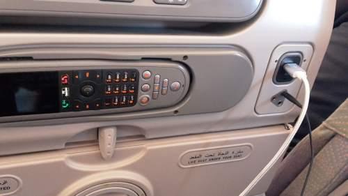 A380 USB-Steckdose und Audio-Buchse